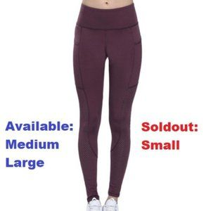 Red leggings with pockets – mesh